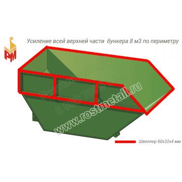 Усиление всей верхней части бункера по периметру