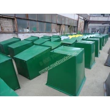 18 контейнеров металлических для мусора 0,75м3 сталь 2мм