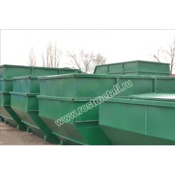 Бункер для мусора объемом 7 м3 из стали толщиной  3/3 мм
