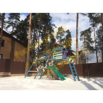 Игровой комплекс Хижина Санторини с рукоходом и мансардой