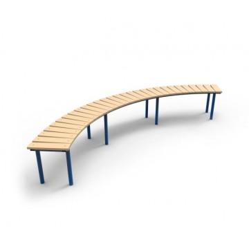 Скамейка парковая Полукруглая без спинки