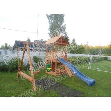 Детский игровой комплекс Сибирика с 2-я горками
