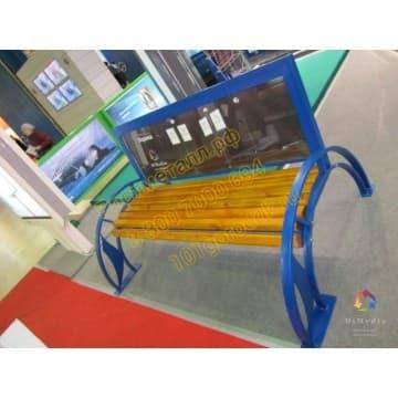 Рекламная скамейка (двухсторонняя)
