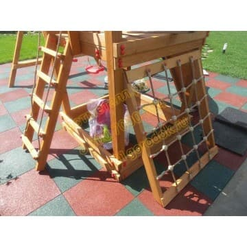 Детский игровой комплекс Сибирика с сеткой