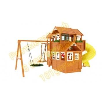 Детские городки Клубный домик Макси с трубой Luxe