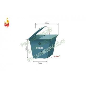 Контейнер металлический 0,75м3 для раздельного сбора мусора - для стекла