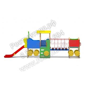 Горка - скат Паровозик с вагоном