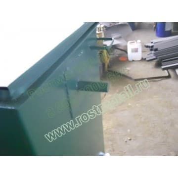Контейнер металлический для мусора объём 0,85 м3 (евроформа)