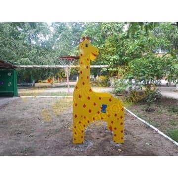 Шведская стенка Жираф с баскетбольным кольцом
