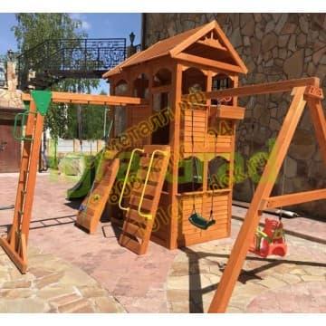Детские городки Клубный домик 2 с рукоходом