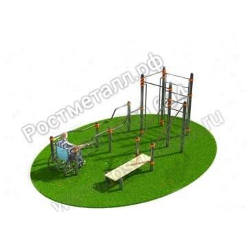 Спортивный комплекс для инвалидов-колясочников 002