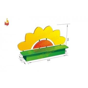 Скамейка - ящик для садика  Цветочек