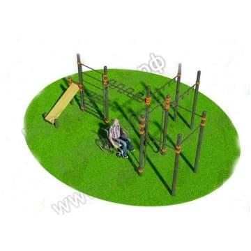 Спортивный комплекс для инвалидов-колясочников 003