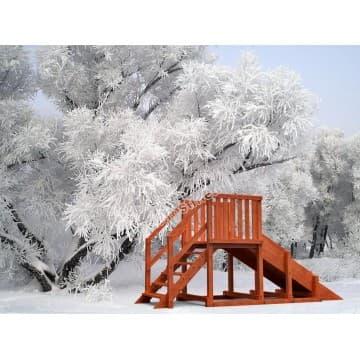 Зимняя горка Урал