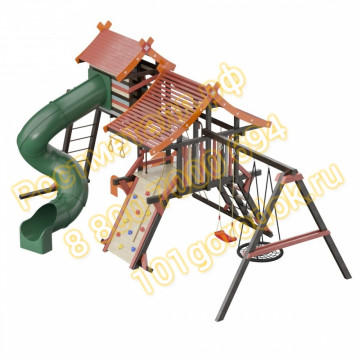 Детский игровой комплекс Хижина Корсика Люкс