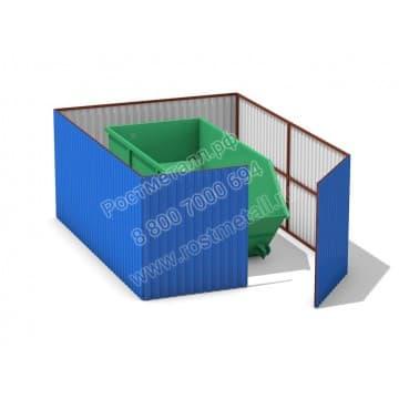 Бункерная площадка с воротами на 1 бункер