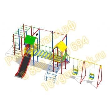 Детский игровой комплекс Солярис 03 с двумя качелями