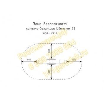 Качалка-балансир Цветочек 02