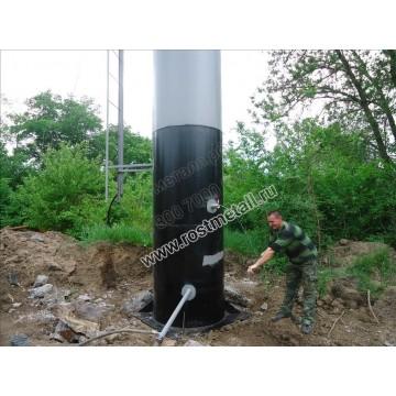 Водонапорная башня Рожновского 25м3 опора - 12м