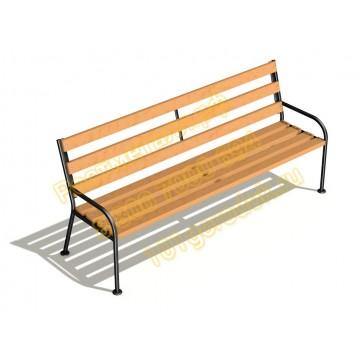 Скамейка парковая Квартет со спинкой