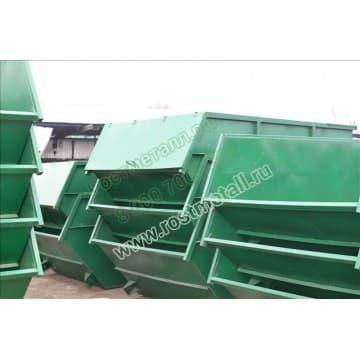 Бункер контейнер для мусора объемом 8 м3 из стали толщиной 2/2мм