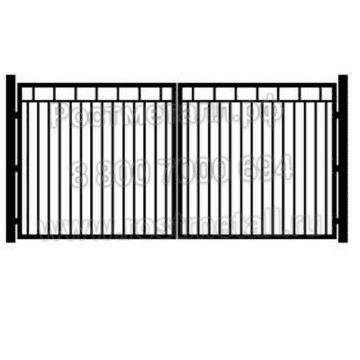 Ворота металлические декоративные распашные