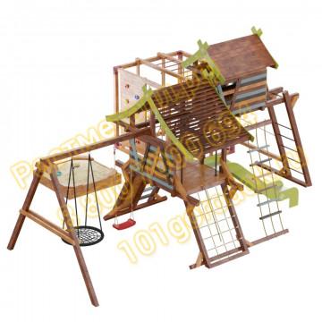 Игровой комплекс Сет Хижина Аквитания-Фару с песочницей