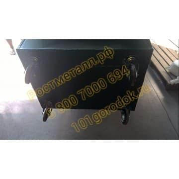 Контейнер металлический для мусора объём 1,1 м3 (евроформа)
