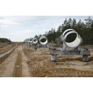 Опоры трубопровода, ложементы