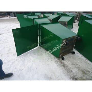 Крышка цельная для металлического контейнера - бака
