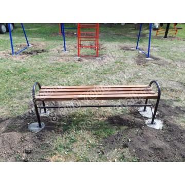 Скамейка парковая Рассвет без спинки