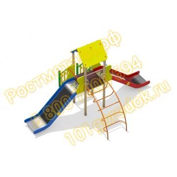 Детский игровой комплекс Вышка с 2 - мя горками