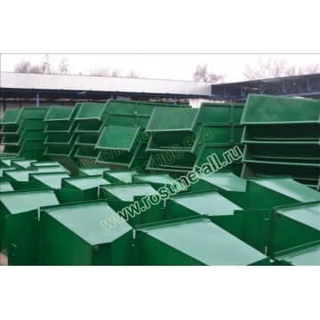 15 контейнеров металлических для мусора 0,75м3 сталь 2мм