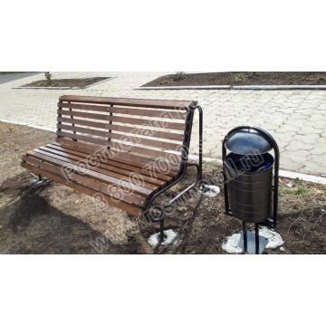 Скамейка парковая Дебют со спинкой