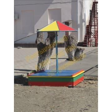 Песочница с выдвижной крышкой и грибком