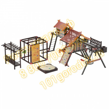 Игровой комплекс Сет Хижина Корсика-Фару-Песочница-Садовая мебель
