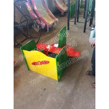 Скамейка детская Аэроплан для дачи и садика