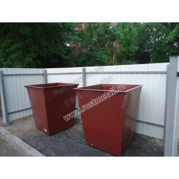Контейнерная площадка для мусора открытая на 2 контейнера