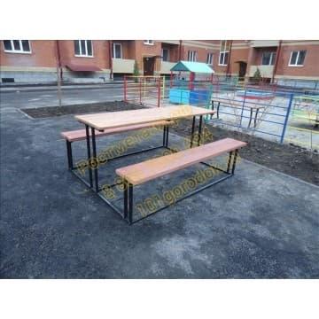 Стол со скамейкой Дворовой