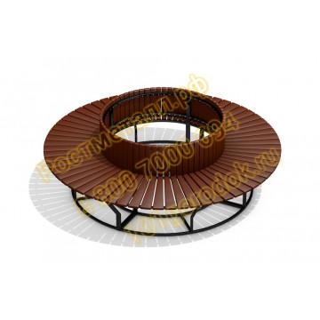 Скамейка круговая со спинкой
