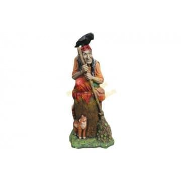 Сказочный персонаж Баба Яга в ступе