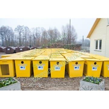 Контейнер металлический 0,75м3 для раздельного сбора мусора - для пластика