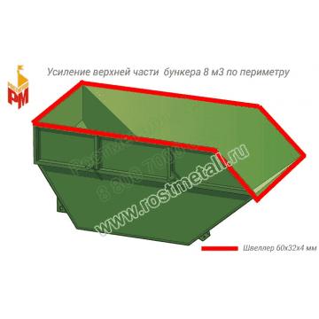 Усиление верхней части бункера по периметру