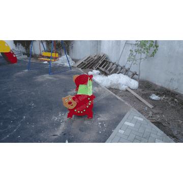 Скамейка детская Хрюша для дачи