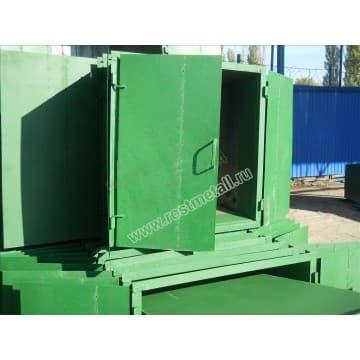 Крышка двустворчатая для мусорного контейнера - бака