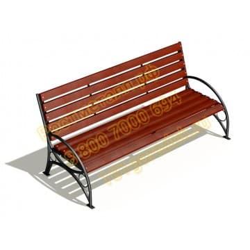 Скамейка парковая Белла со спинкой