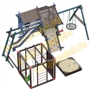 Игровой комплекс Сет Хижина Санторини-Фару с песочницей