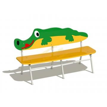Скамейка детская Крокодил