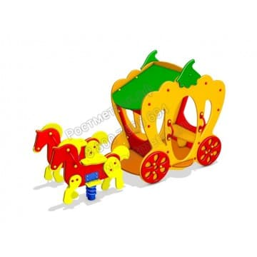 Карета с лошадьми Экипаж для Золушки