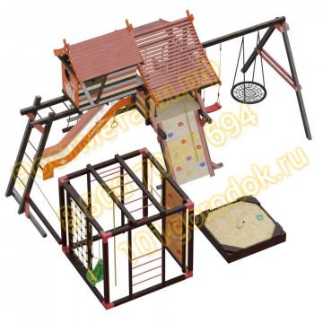 Игровой комплекс Сет Хижина Корсика-Фару с песочницей